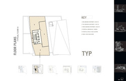 Typical floor plan (3 apartments)