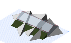 Triangles to create dormers