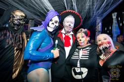 Halloween party underworld scene