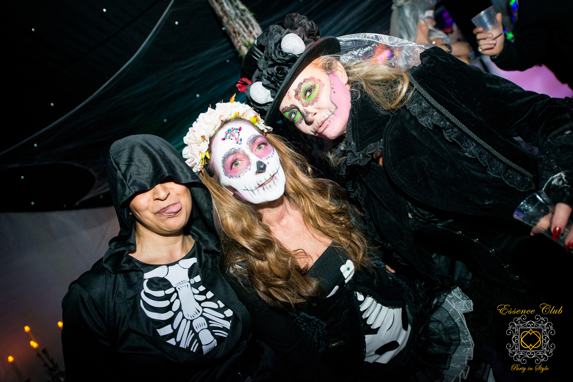 Halloween day of the dead club night