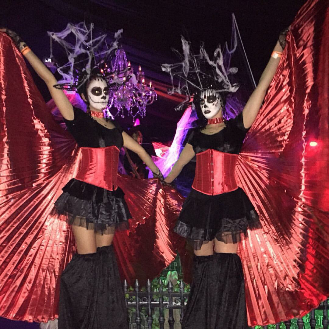Bewitching halloween dancers