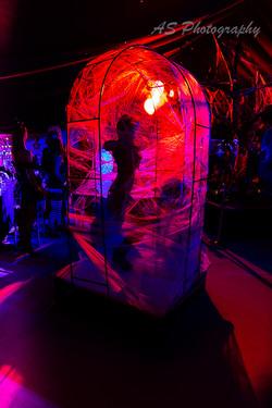 Essence club halloween dancing web cage