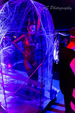Essence club halloween dancing web cage 5