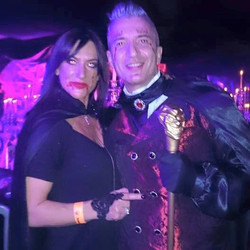 In bewitching halloween party