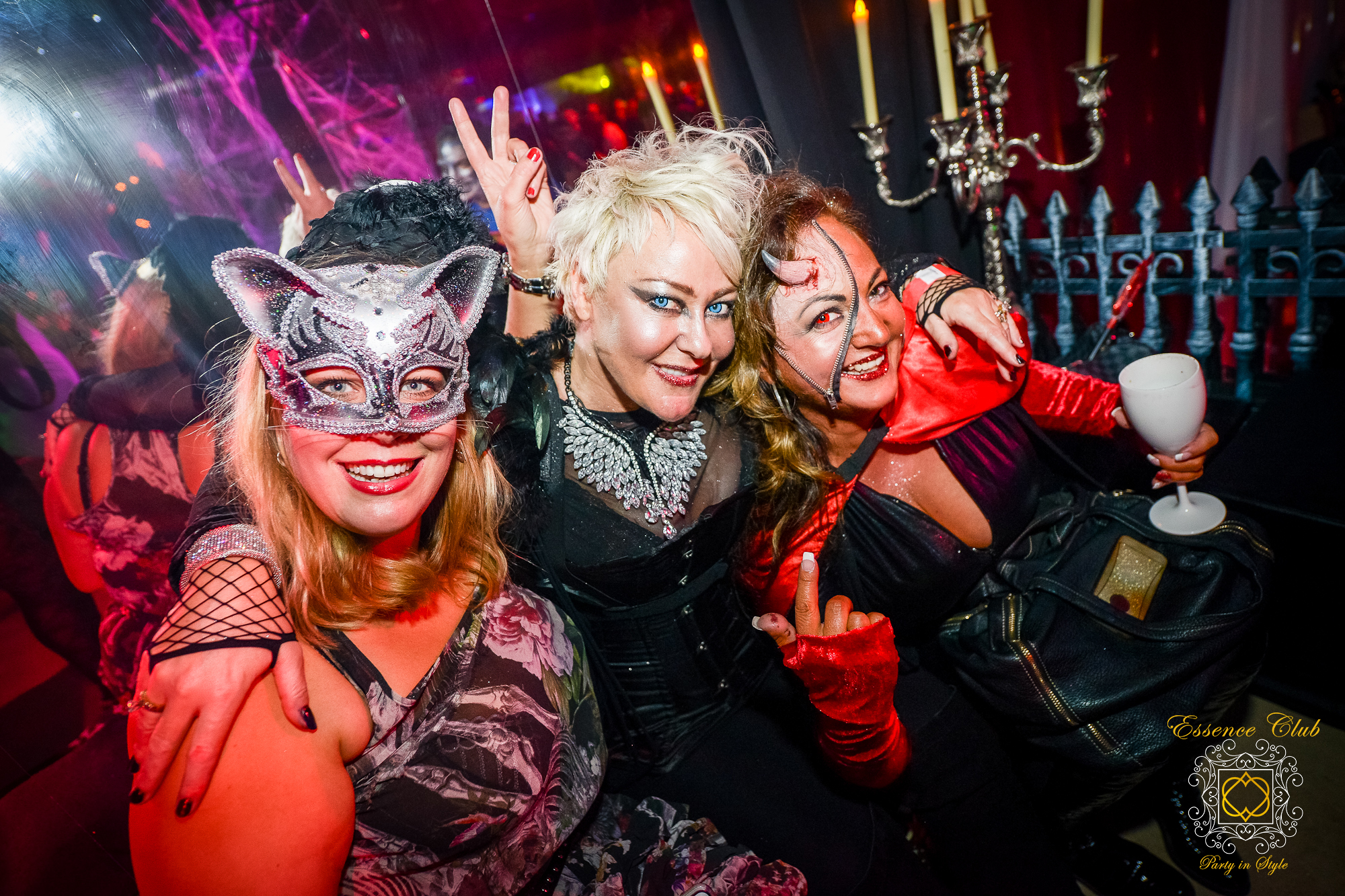 Heaven and Hell themed party event