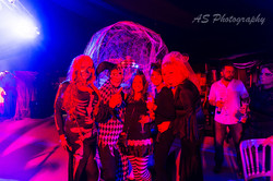 Bewitching halloween party group