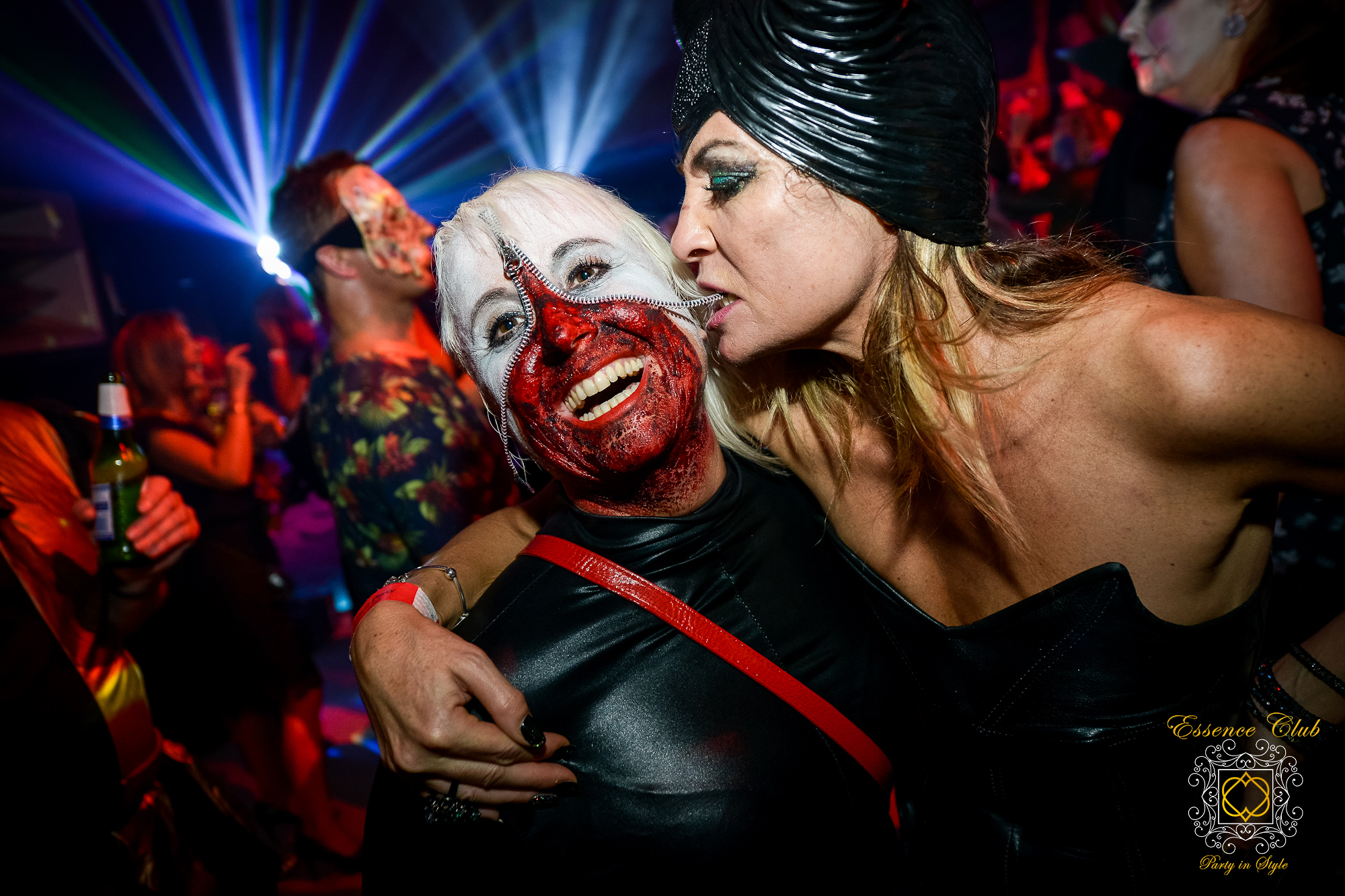 Heaven and hell party zip face