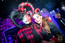 Colourful halloween essence club party