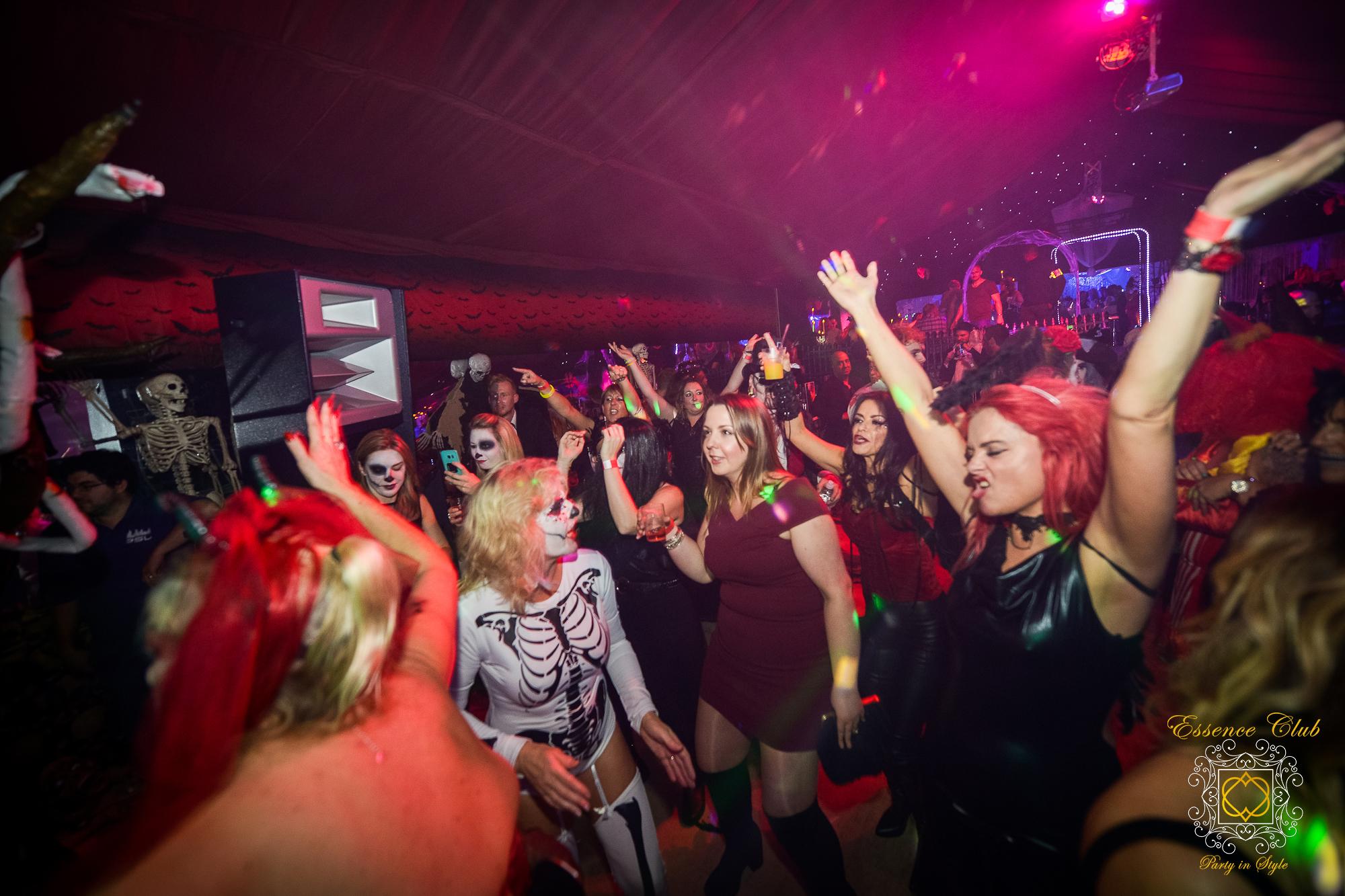 Heaven and hell dance floor event