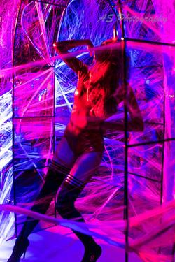 dancing in web cave