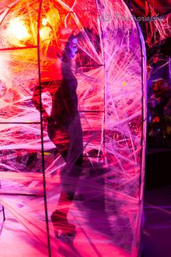 Dancer in web cave
