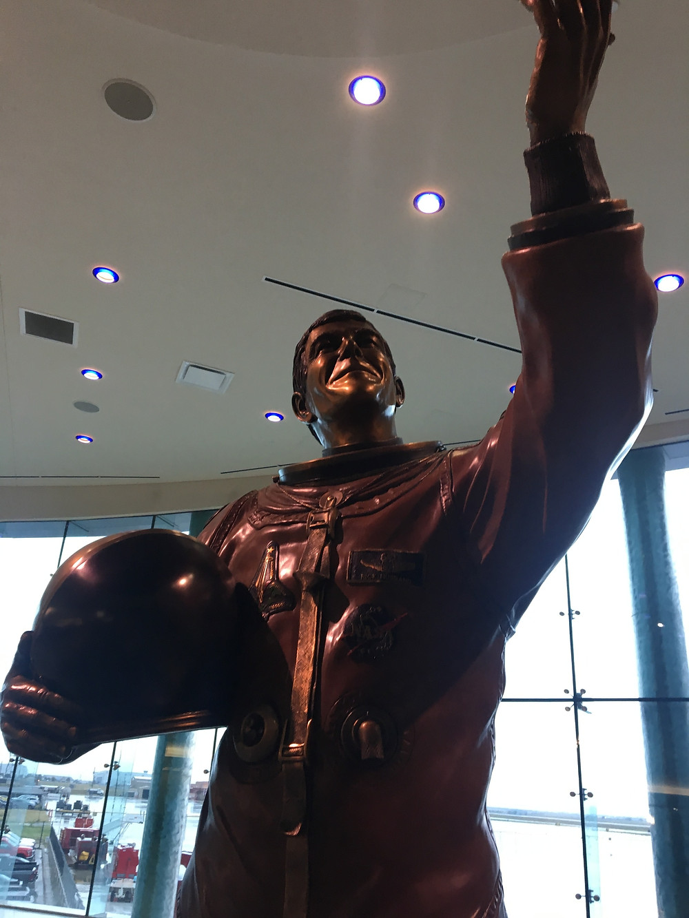Rick Husband Statue at Amarillo Airport
