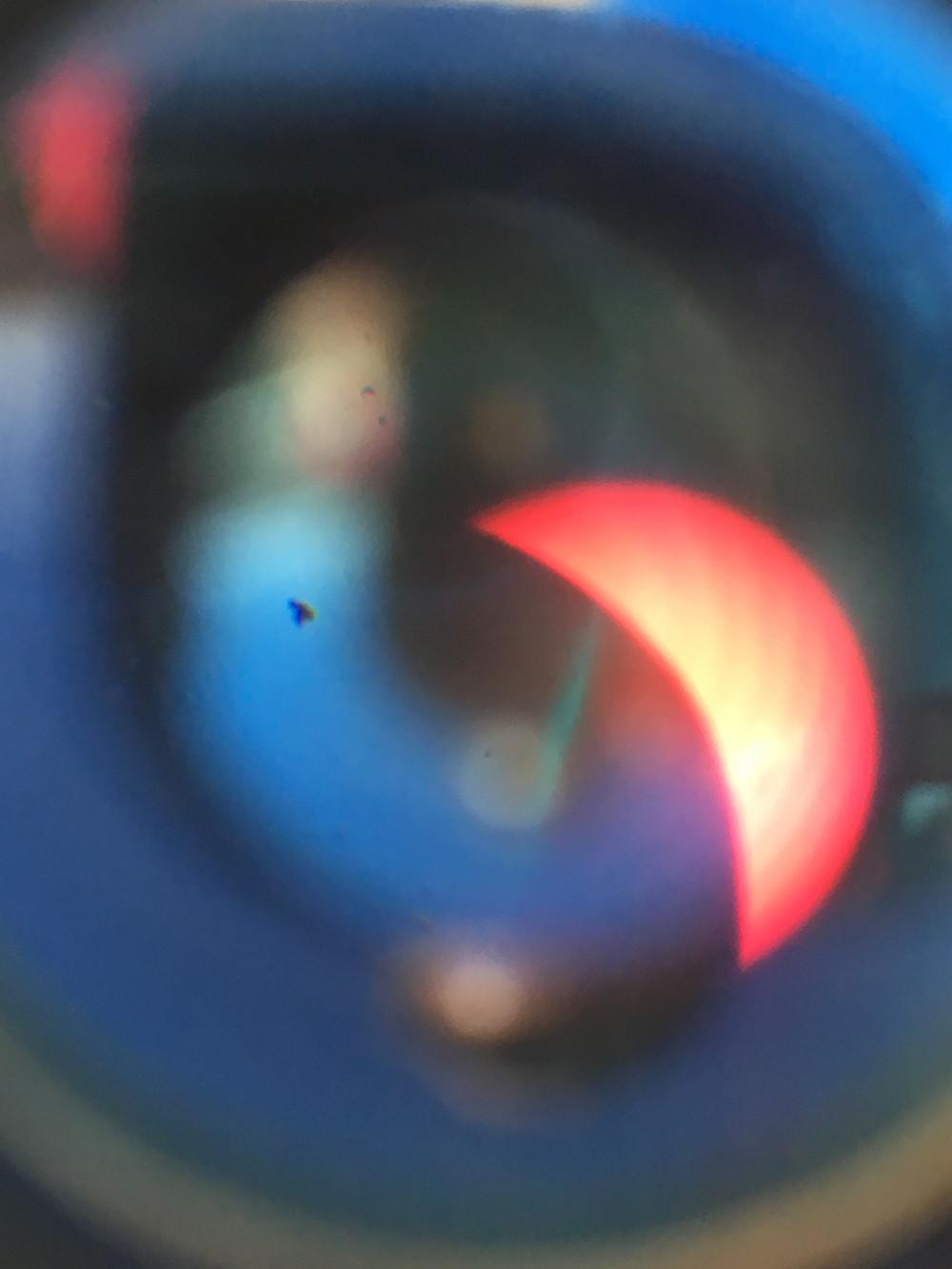 Post Totality through a Solar Telescope