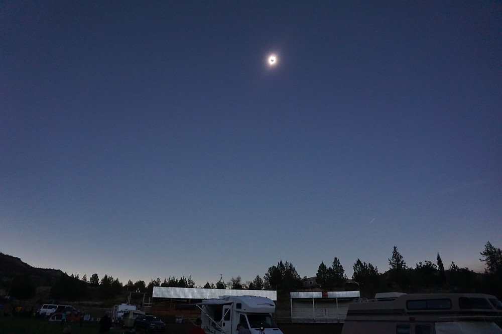 Maximum Eclipse at 10:41 a.m. PDT in Spray, Oregon
