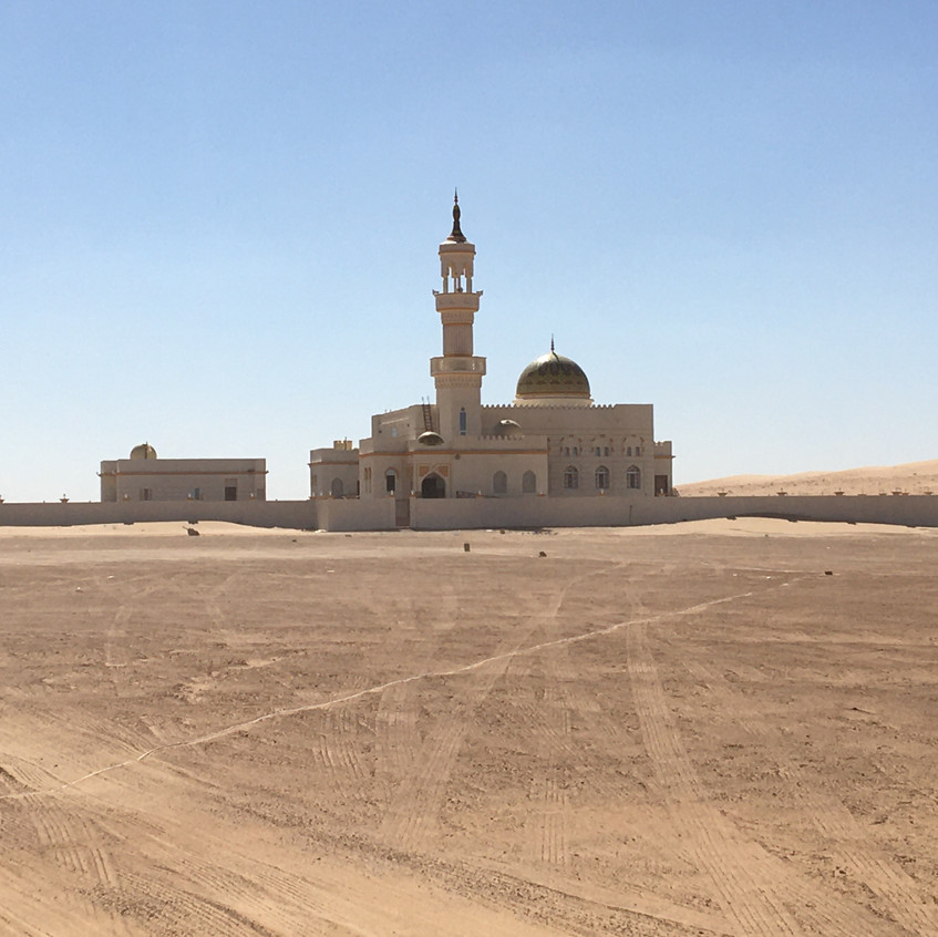 Mosque in the middle of the desert