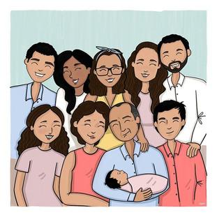 ✨✨✨Big family ✨✨✨ . . . . . . #naniarts