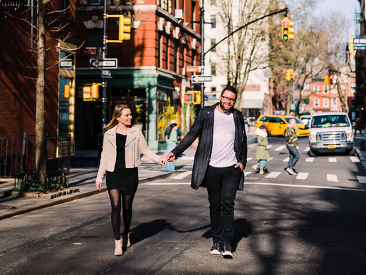 Urban Anniversary Session in Greenwich Village