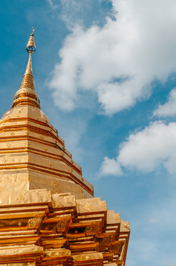 Stupa of Wat Phra That Doi Suthep temple in Chiang Mai Thailand