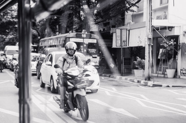 Marla Manes Photography Motorcyclist in Bangkok Thailand