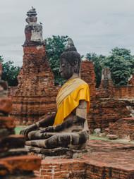 Marla Manes Photography Buddha in Ayutthaya Ruins of Thailand
