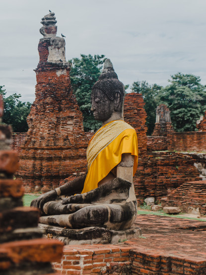 Marla Manes Photography Buddha in Ayutthaya Ruins of Thailand