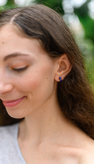 seattle product photographer wears earrings