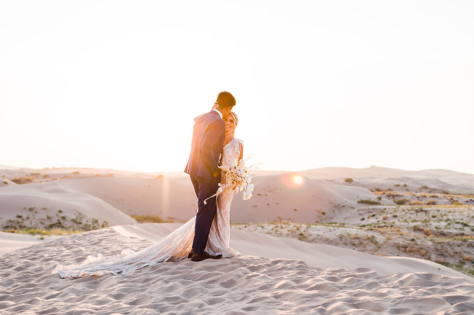 Golden Hour on a couple's elopement day in Utah