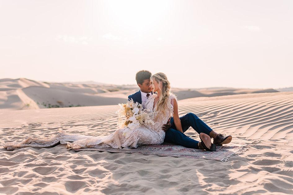 Little Sahara Sand Dunes elopement couple
