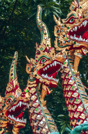 Thai dragons guarding Doi Suthep in Chiang Mai