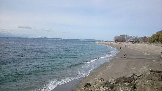 Golden Gardens Park beach, a perfect beachfront for a Seattle Elopement