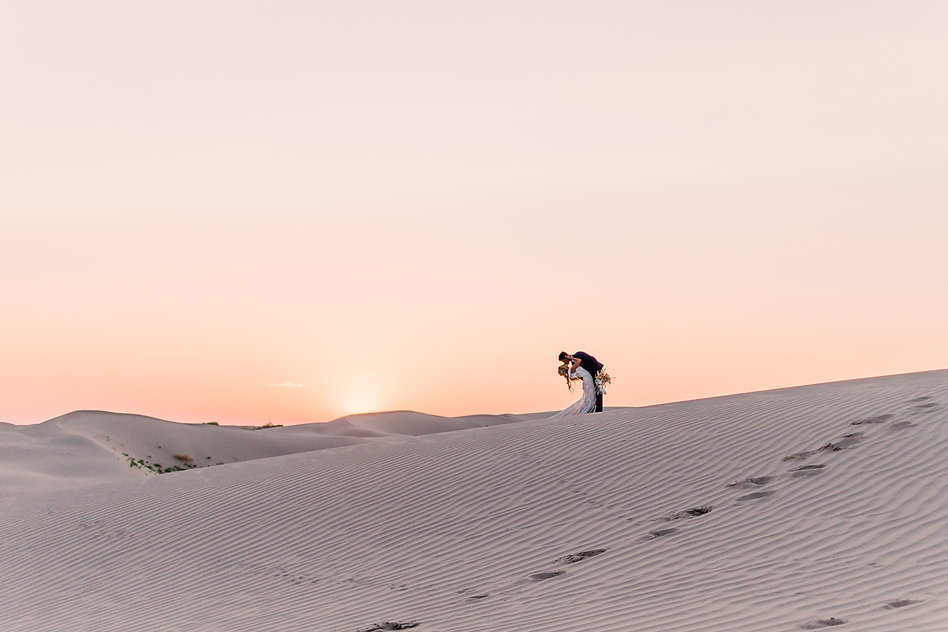 Golden hour at the Little Sahara Sand Dunes