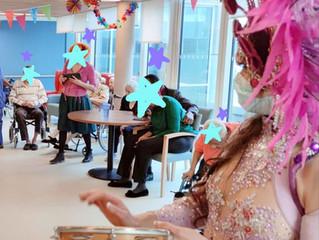 Show en Ehpad à l'approche du carnaval