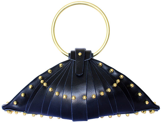 Navy Shell Bag