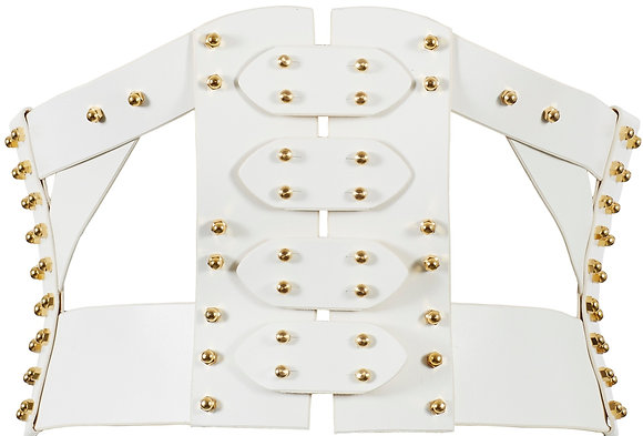 50% Off - Simple Frame Corset - White