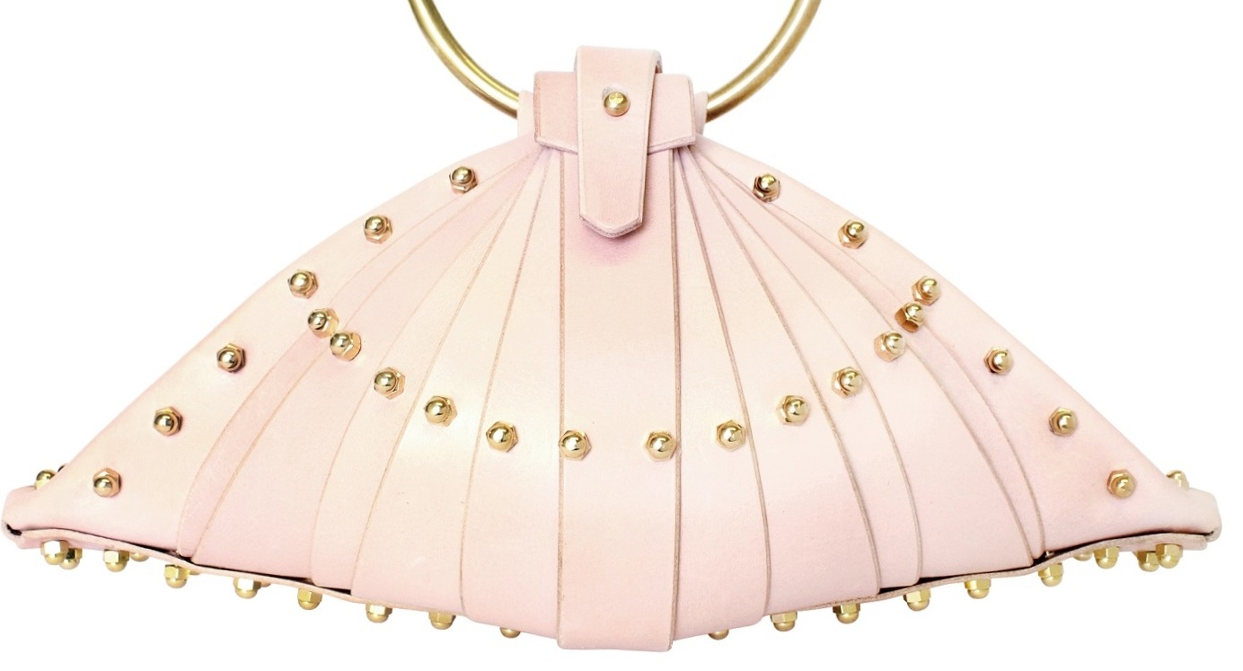 PINK SHELL BAG - FRONT VIEW