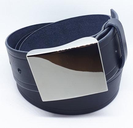 Jean's Belt, Unisex - Navy/Black/Merlot Cowhide