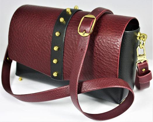 30% Off - Classic Shoulder Bag - Black & Merlot