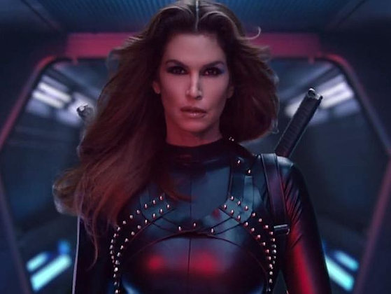 Cindy Crawford - Holster Brace - Bad Blood Video