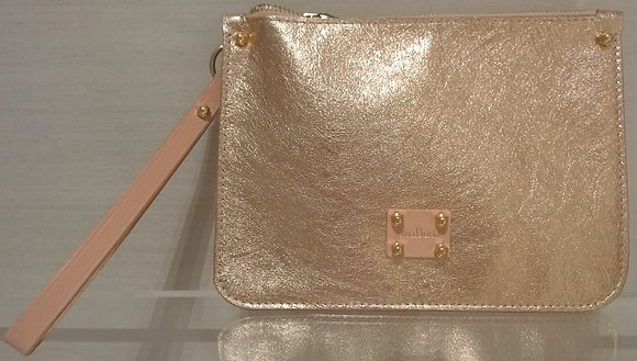 Metallic Pink Purse / Detachable Tote Pocket