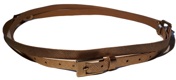 30% Off - Double Wrap Skinny Belt - Gold