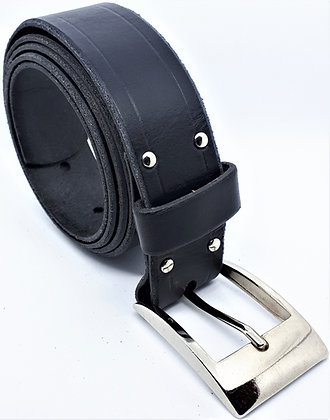 Jean's Belt, Unisex - Navy Cowhide
