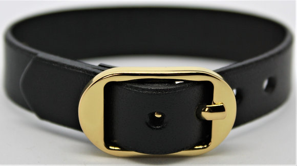 Buckle Bracelet - Black Cowhide