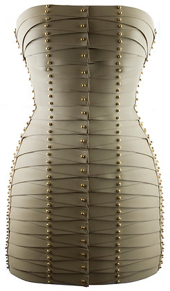 Laced Strapped Dress - Cream