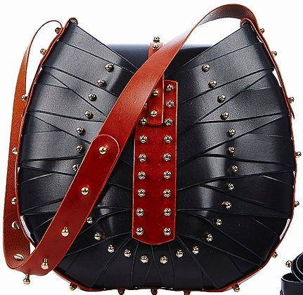 Navy & Rust Shield Bag
