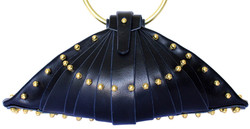 NAVY SHELL BAG - FRONT VIEW