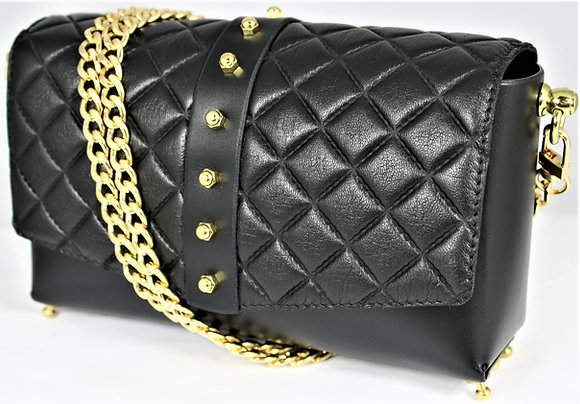 30% Off - Quilted Shoulder Bag - Black