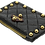 Thumbnail: Quilted Card Purse - Black Lambskin & Cowhide