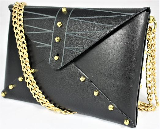 30% Off - Etched Envelope Bag - Black
