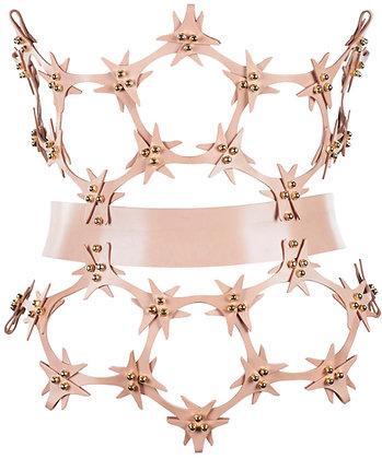 Lace Cutout Hip-Corset