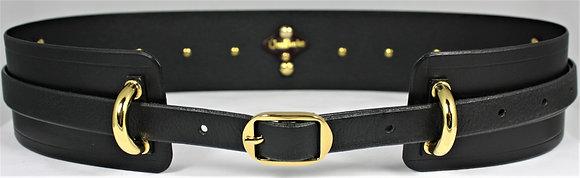 Arch Belt - Black Cowhide